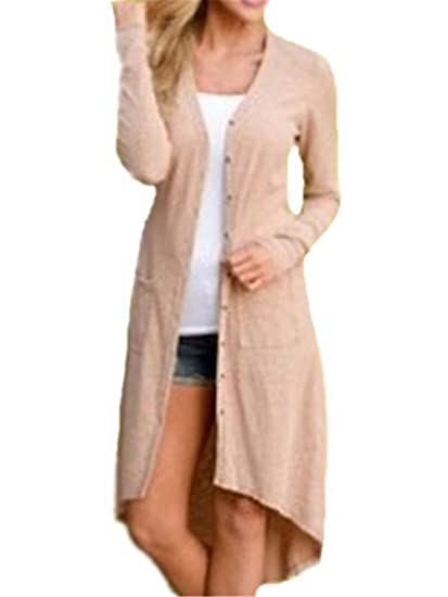 Kerlana Coat Mujer Casual Manga Larga Cardigan T-Shirts Sexy Sudadera Largo Tops Color SÓLido