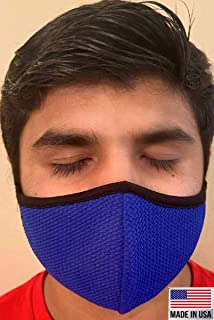 product image for Made in USA Fashion Protective Face Masks Unisex Washable Cotton Mask Hand Made (Royal Blue)