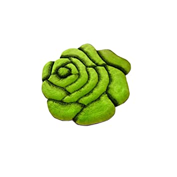 Amazon Com Area Decorative Rugs For Living Room Green Round Roses