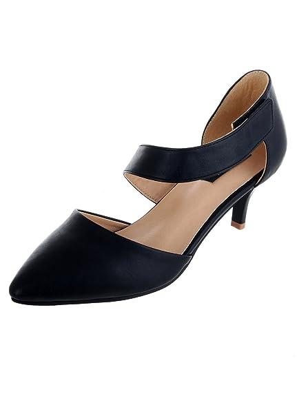 7d011583460 SHERRIF SHOES Black Kitten Heel Sandals  Buy Online at Low Prices in India  - Amazon.in