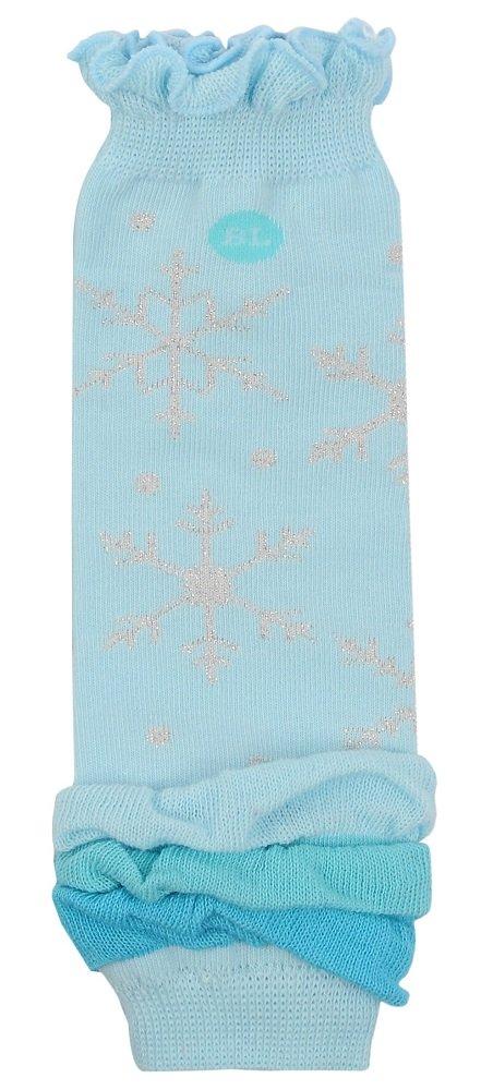 BabyLegs Lil Ice Princess-Organic Leg Warmers 0-3 Months Light Blue