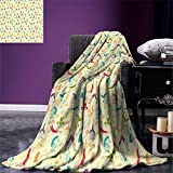 smallbeefly Yoga Digital Printing Blanket Workout Themed Fitness Girls Pattern Abstract Meditation Postures Arrangement Asian Summer Quilt Comforter Multicolor