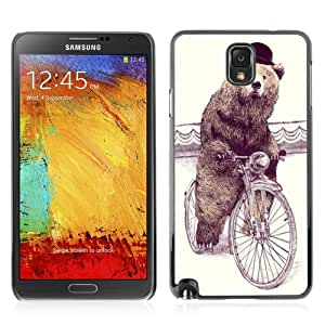 YOYOSHOP [Funny Sophisticated Bear Hipster ] Samsung Galaxy Note 3 Case