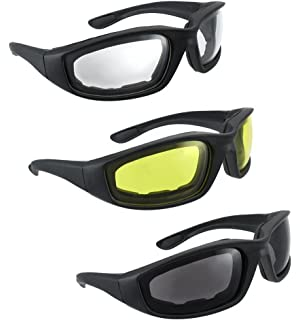 78f7774883 3 Pair UV Protection Motorcycle Riding Glasses Bicycle Sunglasses - Smoke  Clear Yellow