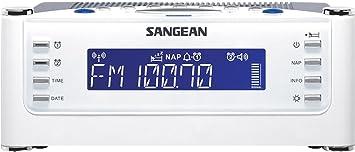 SANGEAN RCR-22 Radio Reloj Despertador Digital RDS, Presintonias, Función Sleep y doble