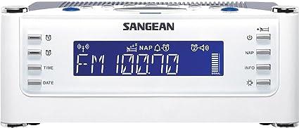 SANGEAN RCR-22 Radio Reloj Despertador Digital RDS, Presintonias, Función Sleep y Doble Alarma