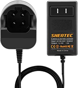 Shentec 4.8V and 7.2V Ni-MH/Ni-Cd Charger Compatible with Dremel 755-01 757-01 5000755-01 7700-01 7700-02 7300 Pod Style Battery (Not for 757 Battery)