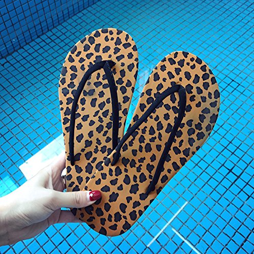 Fondo Ladies' Macchie Flop Flip nere Per Estate Piatto Dal Pantofole Qingchunhuangtang gEqdR6wFzF