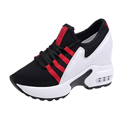 63d7f5b36da7d Amazon.com: ASO-SLING Womens Hidden Heels Wedge Sneakers Platform ...