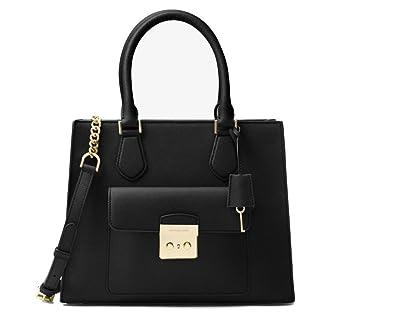 cc1dd82d047dbf Amazon.com: Michael Kors - Bridgette Medium Saffiano Leather Tote - Black:  Shoes
