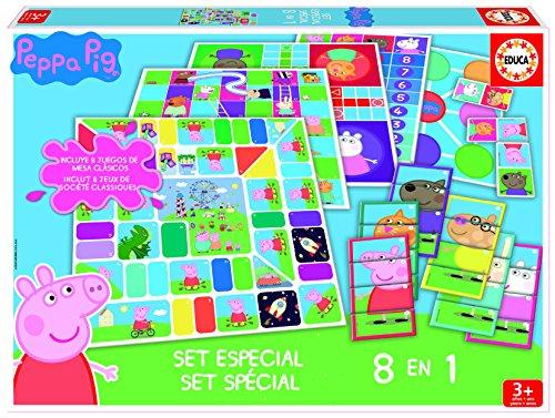 Educa - 16791 - 8 Jeux en 1 - Peppa Pig
