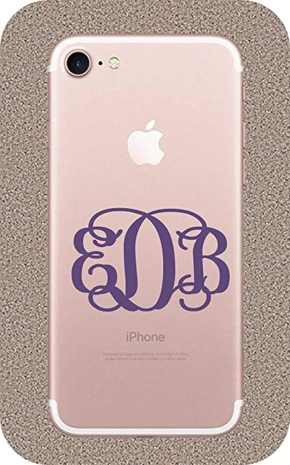 official photos b9b39 31bf8 Amazon.com: BrandVinyl Monogram Initials for iPhone 7, iPhone 7 Case ...
