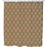 Etnico Shower Curtain: Large Waterproof Luxurious Bathroom Design Woven Fabric