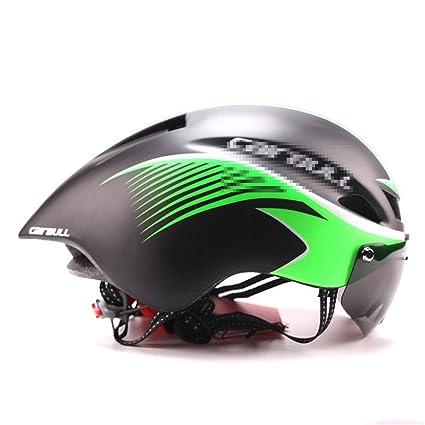 HELMESG Triathlon Mtb Road Bike Helmet Bicycle Integrally-Molded Aerodynamic Sport Cycling With Goggles Casco