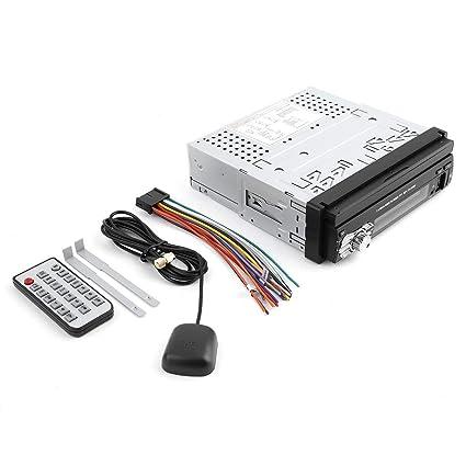 Reproductor de MP5, Bluetooth 1DIN 7 Pulgadas TFT táctil HD estéreo Coche Pantalla Audio sintonizador