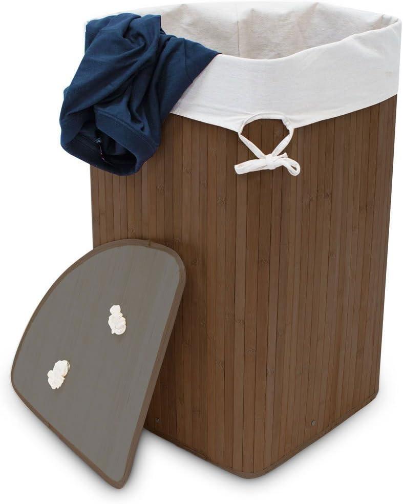 Cesto para ropa sucia de bambú