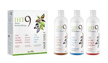 Amazon Com Iht9 Anti Hair Loss Treatment Kit Shampoo Oil And Conditioner For Treating Damaged Hair 3 X 200ml Each Hair Care Beauty