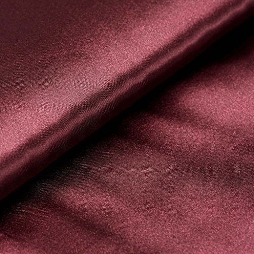 x 10 yards Burgundy Satin Fabric by the Bolt - Wedding Party Decorations Sewing DIY Crafts Costumes ()