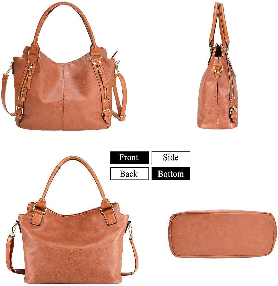 Handbag for Women Large Capacity Hobo Shoulder Bag Leather Tote Bag
