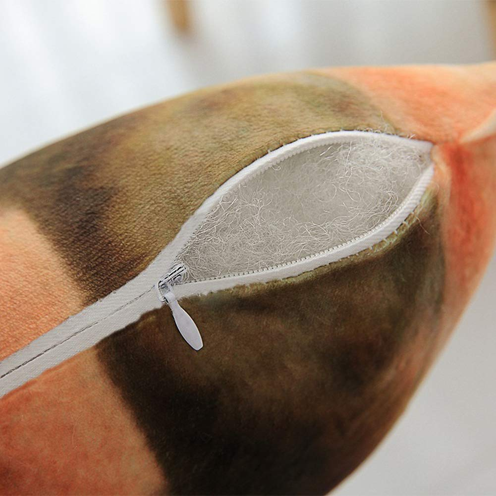 Amyove Almohada de Tiro de Felpa con Forma de Perro simulada en 3D con Funda extra/íble d/álmata 50cm