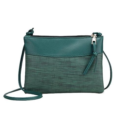 bbe9e19179d410 UFACE Lady Retro UmhäNgetasche Frauen Tasche Schultertasche Messenger Bags  Tote Handtasche (Grün): Amazon.de: Schuhe & Handtaschen