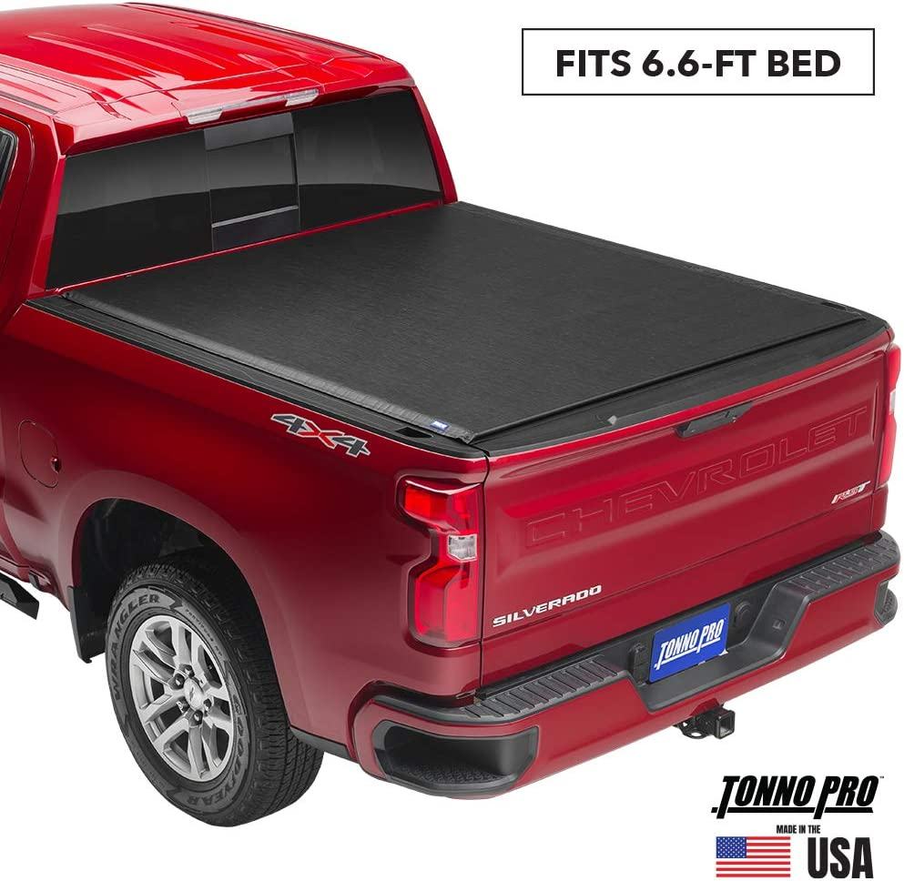 "Tonno Pro Lo Roll, Soft Roll-up Truck Bed Tonneau Cover | LR-3050 | Fits 2015 - 2020 Ford F-150 6'5"" Bed"