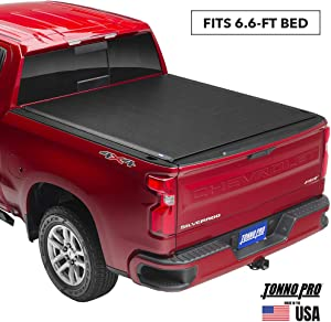 """Tonno Pro Lo Roll, Soft Roll-up Truck Bed Tonneau Cover   LR-3050   Fits 2015 - 2020 Ford F-150 6'5"""" Bed"""