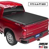 "Tonno Pro Lo Roll, Soft Roll-up Truck Bed Tonneau Cover | LR-1045 | Fits 2014-18, 19 Ltd./Lgcy GMC Sierra & Chevrolet Silverado 1500 /2500/3500 6'6"" Bed"