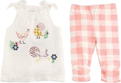 Mud Pie Baby Girls Memaid Tassel Tunic and Capri Set