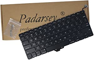 Padarsey New Laptop Replacement Keyboard for MacBook Pro 13-inch A1278 2008 2009 2010 2011 2012 2013 2014 2015 Year with 80Pce Keyboard Screws