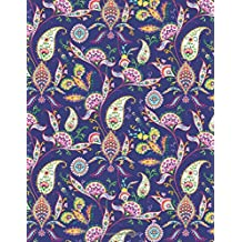 My Big Fat Journal Notebook Paisley Pattern On Navy: 300 Plus Pages, Jumbo Sized Plain, Blank Unlined Journal Notebook For Journaling, Writing, ... 11 Size (Jumbo Plain Journal 2) (Volume 63)