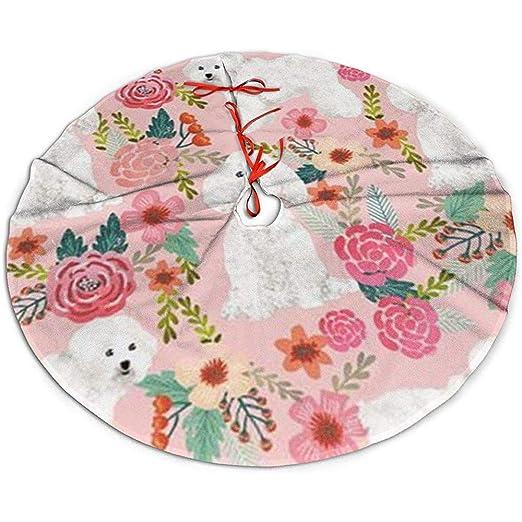 Egoa Falda De Árbol Dog Pink Florals Party Una Fina Falda ...