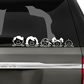 Peeping Family Car Decal