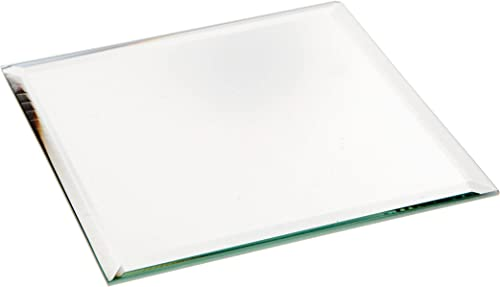 Plymor Square 3mm Beveled Glass Mirror, 4 inch x 4 inch Pack of 144