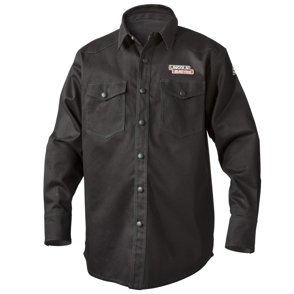 Lincoln Electric K3113-XL Welding Shirt, Premium Flame Resistant (FR) Cotton, Custom Fit, Black, XL