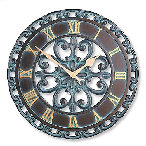 Ornate Copper wall clocks - copper wall decor