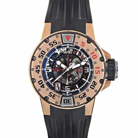 Richard Mille automatic-self-wind Negro Reloj para hombre RM028 AK RG (Certificado