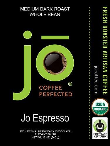 Jo Espresso:  Whole Bean Organic Arabica Espresso Coffee