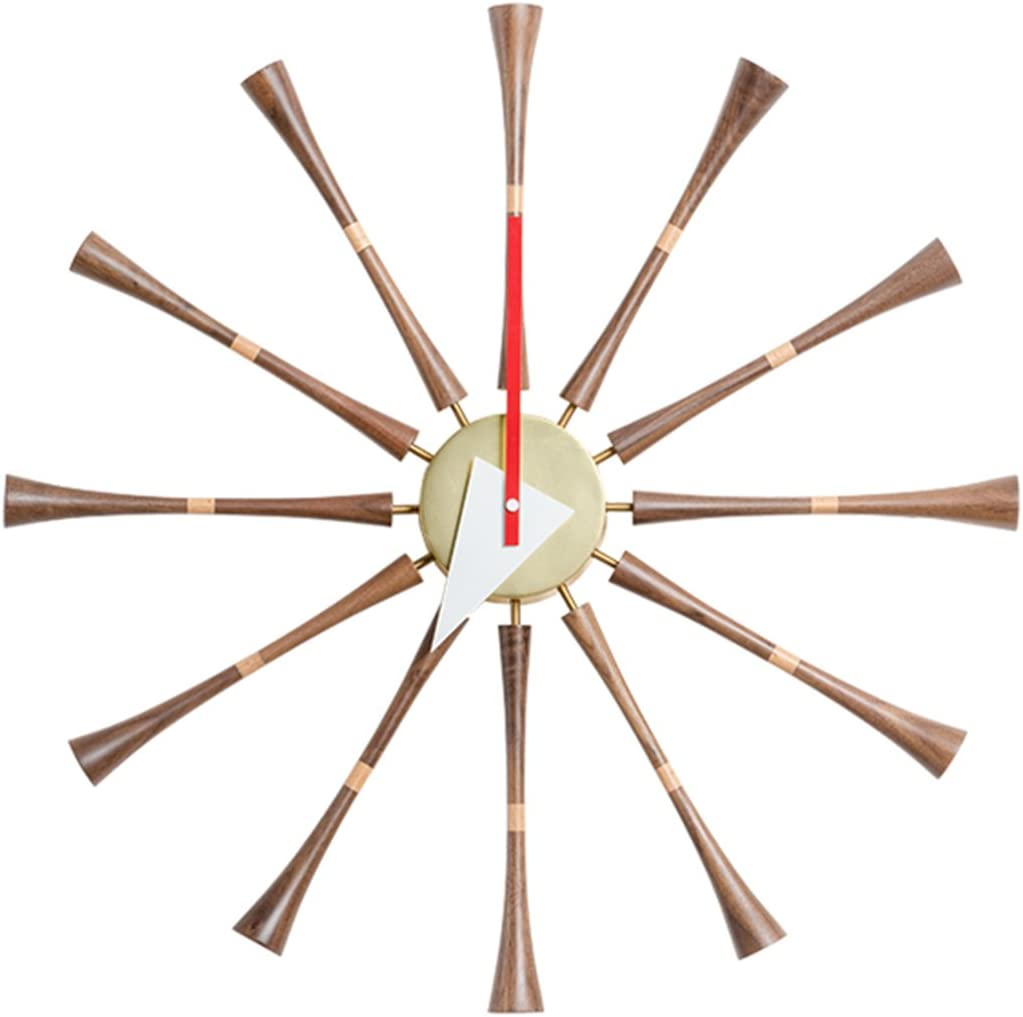 Emorden Furniture Classic Wall Clock George Nelson Spindle Clock Brown , Atomic Wooden Wall Clock Mid Century Handmade Antique Retro Nelson Style