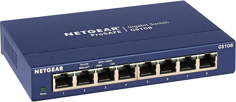 NETGEAR GS108GE 8-poorts Gigabit Ethernet switch