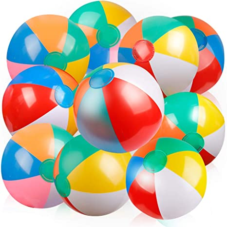 Amazon.com: Coogam - Bola de playa inflable de 12.0 in ...