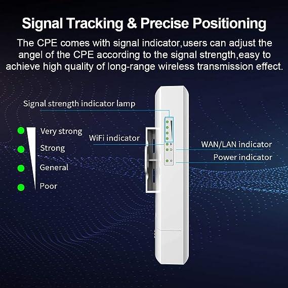 HM2 1KM de Largo Alcance WiFi Router 300Mbps Wds Wireless ...