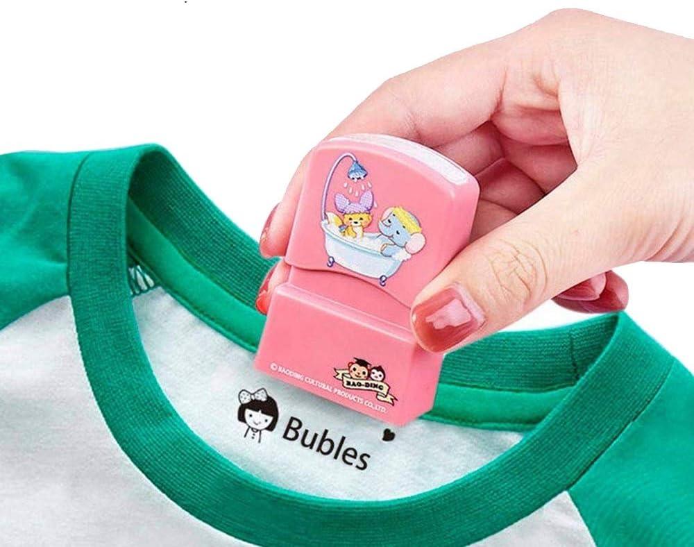 Timbro per abbigliamento personalizzato Timbro personalizzato con nome//immagine autoinchiostrante pennarello per indumenti per pennarello per tessili con timbro di gomma delluniforme scolastica