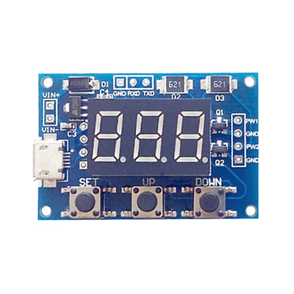 Homyl 2 Channel PWM Pulse Frequency Duty Cycle Square Wave Adjustable Signal Generator Module LCD Display