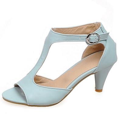 RAZAMAZA Damen Kitten Heel Sandalen Schuhe