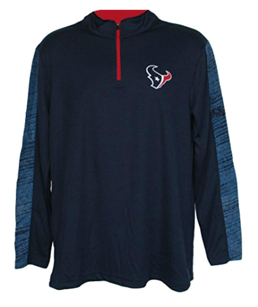 Houston Texans大人用XL XL 1 / 4 Zipプルオーバーシャツ – ネイビーブルー   B074FB1CK4