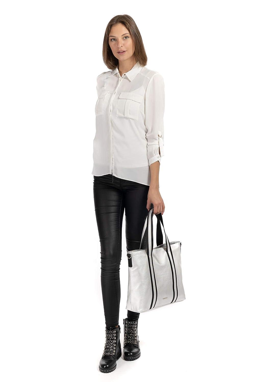 Emily & Noah Luna Shopper väska 37 cm, - Svart 100 - Einheitsgröße Vit 300