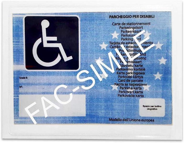 4r Quattroerre It 1609 Tasche Für Behindertenparkkarte 12 X 16 Cm Auto