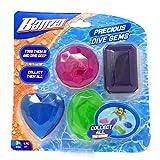 Banzai 4 Piece Precious Dive Gems Pool & Swimming Toy