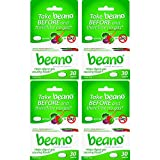 stop gas - Beano Tablets- Take Beano To Help Digest Gas Causing Foods-30 Tablets Per Box, 4 Boxes Total-Packaging May Vary